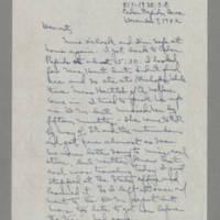 1942-12-07 Laura Davis to Lloyd Davis Page 1