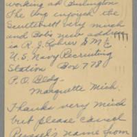 1946-01-29 Mrs. D.L. Rohrer to Dave Elder Page 1