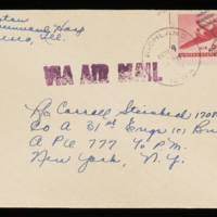 1945-11-08 Evelyn Burton to Carroll Steinbeck - Envelope