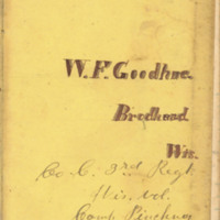 William F. Goodhue diary, 1861
