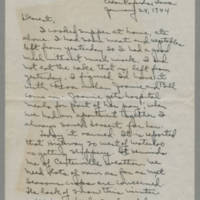Laura Davis letters to her husband Lloyd Davis, January-May 1944