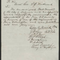 Letter to Governor Kirkwood
