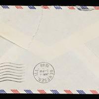1945-11-27 Carroll Steinbeck to Evelyn Burton - Envelope back
