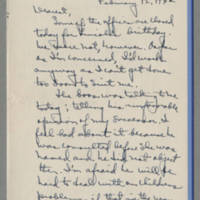 1942-02-12 Laura Davis to Lloyd Davis Page 1