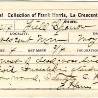 Frank Harris, egg card # fh001u