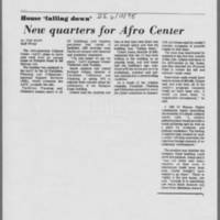 "1975-06-10 Daily Iowan Article: ""New quarters for Afro Center"""