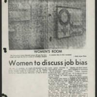 1971-09-29 Daily Iowan Article: 'Women to discuss job bias'