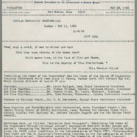 1966-05-12 NAACP Newsletter, Fort Madison Branch, Page 1