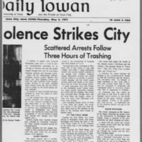 "1971-06-06 Daily Iowan Article: """"Anti-War Violence Strikes City"""" Page 2"