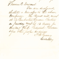 Boston, Hartford and Erie Railroad Company correspondence with Thomas C. Durant, Boston, Mass., September 15, 1870