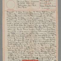 1943-03-22 Laura Davis to Lloyd Davis Page 1