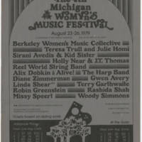 1979-08-23 The 4th Michigan Womyn's Music Festival""""