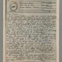 1943-02-23 Maurice Hutchison to Laura Frances Davis