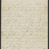 1863-02-01 Charles A. Gates to Mr. Arad Gates Page 1