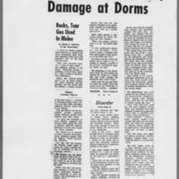 "1971-05-11 Iowa City Press-Citizen Article: """"New Disorders Here; Damage at Dorms"""""