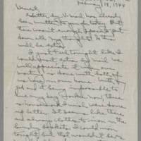 1944-02-18 Laura Davis to Lloyd Davis Page 1
