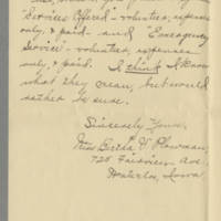 1917-08-21 Miss Bertha V. Plowman to Mrs. F.N. Whitley Page 2