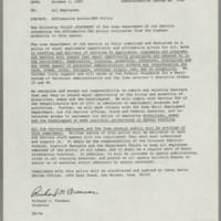 1985-10-01 Affirmative Action EEO Policy Page 1