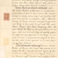 Hazard versus Thomas C. Durant depositons, numbers 1-15, 1859-1880