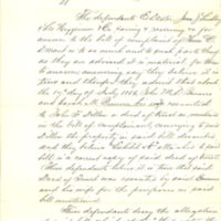Scott County court case, Durant vs Dexter, July 1856