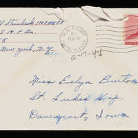 1946-02-17 Carroll Steinbeck to Evelyn Burton - Envelope