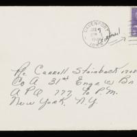 1946-01-07 Evelyn Burton to Carroll Steinbeck - Envelope