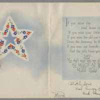 Card from Pearl Hyde to Jack Hyde Page 2