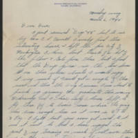 1945-03-06 Milo F. Ralston to Dave Elder Page 1