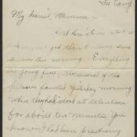 Thomas Messenger to Mrs. N.H. Messenger Page 1