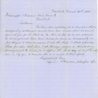 Chouteau, Jr., Sanford & Co., Thomas C. Durant and Henry Farnam correspondence regarding railroad iron, New York, N.Y., 1855