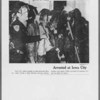 "1971-05-12 Des Moines Register Articles: """"Patrol Sent To Iowa City After Clash"""" """"Residents of Dorms Seek Hiding Place"""" Page 2"