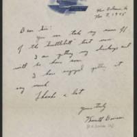 1945-11-08 Kenneth Dorison to Dave Elder