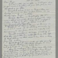 1944-02-20 Lewella Burchenbriter to Lloyd Davis