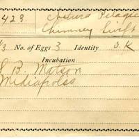 Samuel B. Matson, egg card # 004