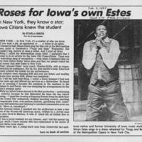 "1985-02-08 """"Roses for Iowa's own Estes"""" Page 1"