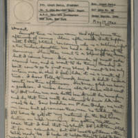 1943-05-17 Laura Davis to Lloyd Davis Page 1