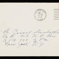 1946-01-16 Evelyn Burton to Carroll Steinbeck - Envelope