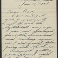 1945-01-16 Harold Weidlain to Dave Elder Page 1