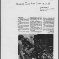 "1970-05-10 Davenport Times-Democrat Article: """"Uneasy Calm Falls Over Iowa U"""" Page 1"