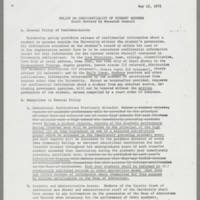 1972-05-15 Policy on Confidentiality of Student Records Page 1