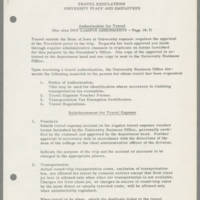 1963-10-04 Travel Regulations University Staff and Employees Page 1
