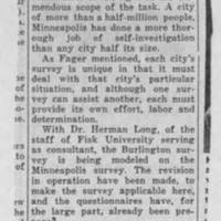 "Burlington Hawkeye Gazette Article: ""Local Group Told of Minneapolis Survey"" Page 2"