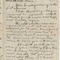 1917-10-17 Robert M. Browning to Mavel C. Williams Page 1