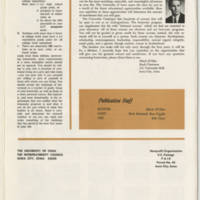 Welcome from President Howard R. Bowen Page 6