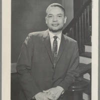 Philip G. Hubbard portrait and clipping, February 1966