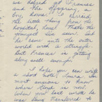 1943-04-05 Bessie Rector to Laura Frances Davis Page 3
