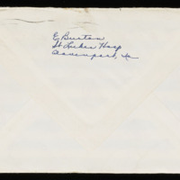 1946-03-10 Evelyn Burton to Carroll Steinbeck - Envelope back