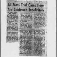 "1971-01-04 Iowa City Press-Citizen Article: """"All Mass Trial Cases Here Are Continued Indefinitely"""""