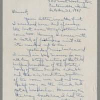 1941-10-21 Laura Davis to Lloyd Davis Page 1