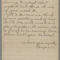 Letter from Conger Reynolds